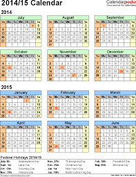 split year calendar 2014 15 printable pdf templates