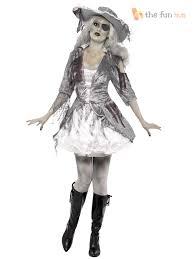 Zombie Princess Halloween Costume Womens Ghost Ship Pirate Princess Fancy Dress Halloween Costume