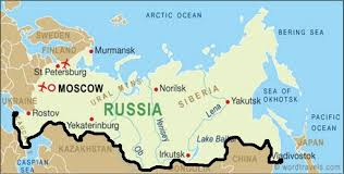 russia map border countries using draft to construct a border wall separating