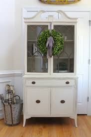 Vintage Cabinet Revamp by Displaying China In A Cabinet Vintage Shabby Chic Glass Display