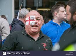 brighton uk 27th apr 2014 a march for england supporter with a
