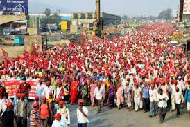 Seeking In Mumbai Thousands Of Indian Farmers March To Mumbai Seeking Government