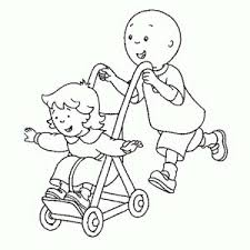caillou rosie coloring pages everythings rosie colouring sheets 8