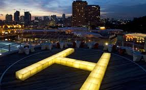 Top Rooftop Bars Singapore Helipad Singapore Bars And Clubs Nightlife Sg Magazine Online