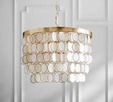 Gold Capiz Chandelier Pottery Barn Brass Chandeliers U0026 Ceiling Fixtures Ebay