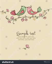Invitation For Cards Party Card Birds Invitation Party Wedding Stock Vector 116761618