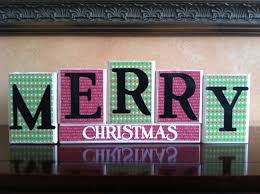 wood merry christmas blocks wood merry christmas sign