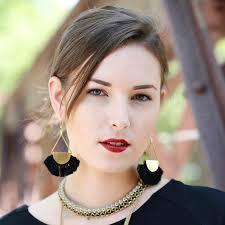 black girl earrings fanned arc black tassel earrings dear keaton