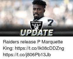 Raiders Meme - raiders update raiders release p marquette king httpstcoik08cddzng