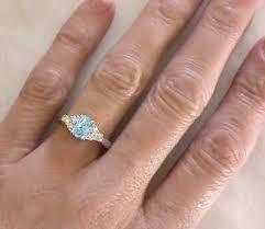 aquamarine and diamond ring aquamarine diamond ring in 14k white gold gr 1111