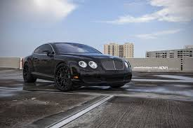 bentley continental 2016 black bentley continental gt rides on black adv 1 wheels gtspirit