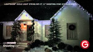 lightshow icicle light string w 5 ct 11 shooting icy blue