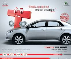 toyota company limited toyota sure certified used vehicles