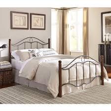 cassidy iron wood bed in mink dark walnut humble abode