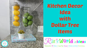 Teal Kitchen Decor by Kitchen Decor Idea With Dollar Tree Items Youtube