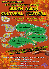 you are invited to celebrate south asian cultural festival wed aug 24