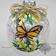 up on tippy toes butterfly ornament