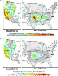 Large United States Map by 2017 One U2010year Seismic U2010hazard Forecast For The Central And Eastern