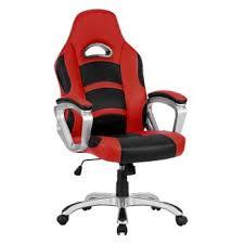 fauteuil de bureau fauteuil de bureau langria racing pour gamer en faux cuir noir