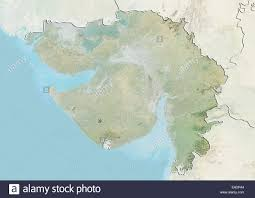 Gujarat India Map by State Of Gujarat India Relief Map Stock Photo Royalty Free
