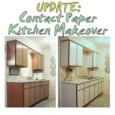 previous kitchen makeover with contact paper before and after