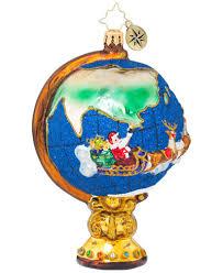 christopher radko circumnavigator santa ornament