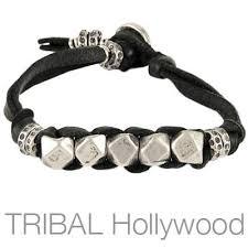 bracelet leather man silver images Mens silver bracelets tribal hollywood page 2 jpg