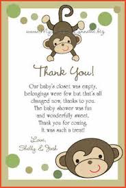 baby shower thank you cards baby shower thank you cards wording proposalsheet