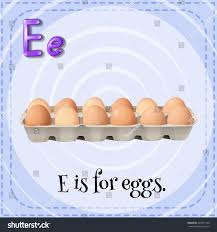 illustration alphabet e eggs stock vector 243371740 shutterstock