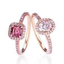 pink gold engagement rings 45 pink engagement rings styles brides