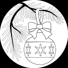 christmas ornament picture christmas ornament coloring page