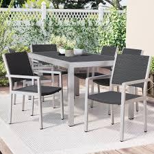 Aluminum Dining Room Chairs Durbin 7 Piece Aluminum Dining Set U0026 Reviews Joss U0026 Main