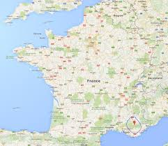 Provence France Map by Family Fecs Seeing Lavender Bloom In France