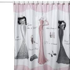 Bath Shower Curtains And Accessories Black And Pink Paris Bathroom Shower Curtain And Accessories From