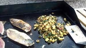 recette cuisine plancha recette de maquereaux à la plancha et ses courgettes à la provençale