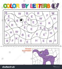 abc coloring book kids color by stock illustration 439301206