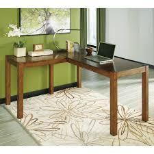 computer l shaped desks signature design by ashley lobink l desk hayneedle
