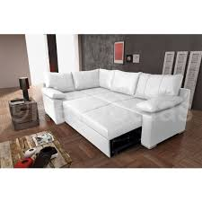 Leather Sofa Beds With Storage Vault White Leather Corner Sofa Bed With Pull Out Sofabed