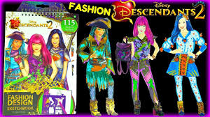 Home Design Sketchbook Disney Descendants 2 Fashion Design Sketchbook Uma Mal Evie Youtube