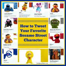 tweet favorite sesame street characters tech savvy mama