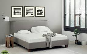 bedroom white memory foam mattress full size grey leather