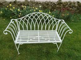 metal 2 seater garden bench white ornate 4ft garden bench garden