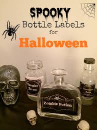 scary bottle labels free printable