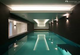 House Plans With Indoor Swimming Pool Delightful Indoor Swimming Pool Design Idea With Blue Pool Water