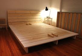 Wood Bed Platform Diy Platform Bed Plans Into The Glass Diy King Bed Frame