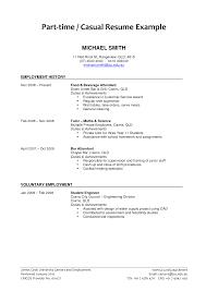 employment resume template part time resume venturecapitalupdate