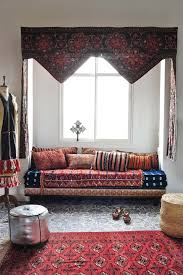 Mixing Leather And Fabric Sofas by Moroccan Shag Rug Curved Sofa Ideas