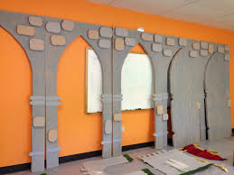 arches and doors partially completed bible vbs decorations and