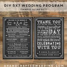 Wedding Program Chalkboard Customize Your Own Wedding Program With These Printable Templates