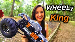 best nitro rc monster truck wheely king bashing awesome hpi 4x4 rc monster truck youtube